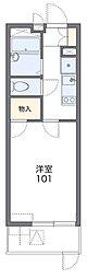 Osaka Metro谷町線 太子橋今市駅 徒歩4分の賃貸マンション 2階1Kの間取り