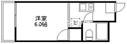 ビューラー赤坂[2階]の間取り