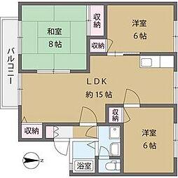 ガーデンハウス鷹巣B[2階]の間取り