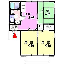 リーベンハイムA[2階]の間取り