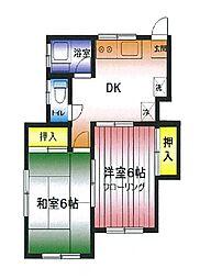 第2広田モンドハイツ[1階]の間取り