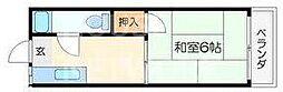 碧叡荘(ヘキエイソウ)[3号室号室]の間取り