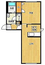 郁李苑シマII[1階]の間取り