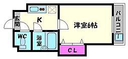 シンパシー京橋[11階]の間取り