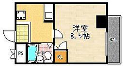 米市ビル[207号室]の間取り