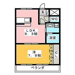トワエモア[2階]の間取り