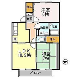 ファミーユSATO[1階]の間取り