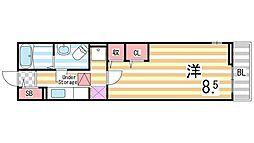 ソレイユ・道[1階]の間取り