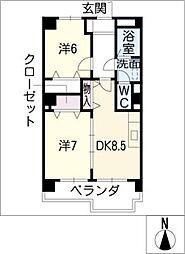 IDAKADAIBLG[4階]の間取り