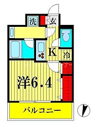 JR総武線 両国駅 徒歩9分の賃貸マンション 3階1Kの間取り
