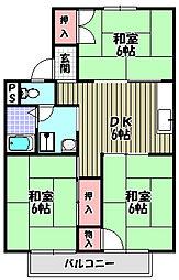津々山グリーンハイツI[2階]の間取り