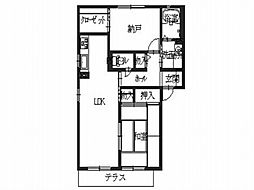 シャーメゾン三島B[1階]の間取り