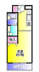 UEDA BUILDING[203号号室]の間取り