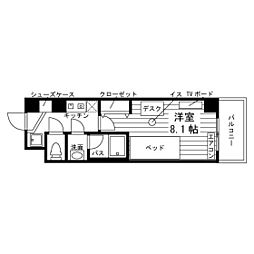 (仮称)草薙食事付学生マンション[0202号室]の間取り