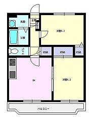 Y&M カガリーハイム[1階]の間取り