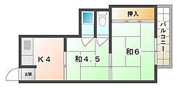 長東マンション[2階]の間取り
