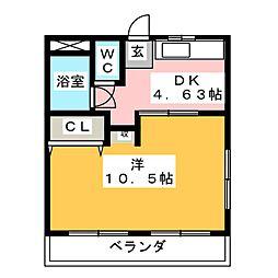 阿部マンション[4階]の間取り
