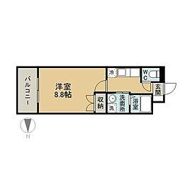 ラグナガーデン亀川[5階]の間取り