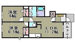 ソレイユ和泉中央[105号室]の間取り