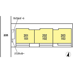 仮 D−room神明[202号室]の外観