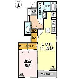 東京都西東京市向台町5丁目の賃貸アパートの間取り