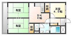 ビアンコディモーラ[1階]の間取り