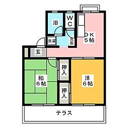ハーモニーII[1階]の間取り