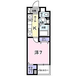 グレンツェン茨木[1階]の間取り