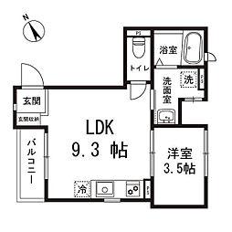 ケイズホーム[301号室]の間取り