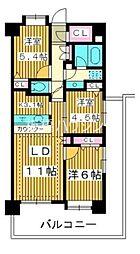 コンフォリア板橋仲宿 4階3LDKの間取り