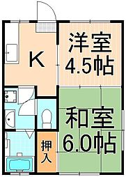 ジュネハイツ(西綾瀬3丁目)[1階]の間取り