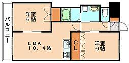 福岡県飯塚市太郎丸の賃貸アパートの間取り