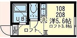ユナイト 小田ジェイマック[2階]の間取り