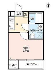 フィローネ高畑(フィローネタカバタ)[2階]の間取り