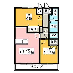 サンライズ・K[1階]の間取り
