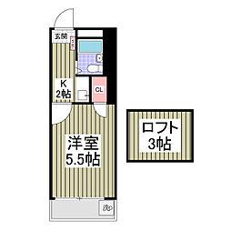 埼玉県草加市青柳町の賃貸アパートの間取り
