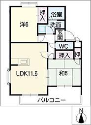 コーポラフォーレ[1階]の間取り