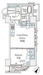 JR総武本線 馬喰町駅 徒歩4分の賃貸マンション 7階1LDKの間取り