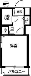 東京都品川区中延6丁目の賃貸マンションの間取り