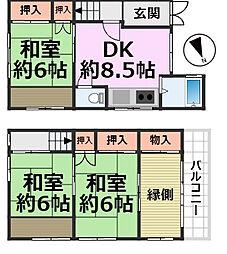 [一戸建] 兵庫県尼崎市南七松町2丁目 の賃貸【/】の間取り