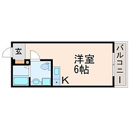 マンションリーベ[4階]の間取り