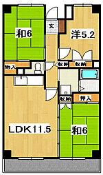 田尻マンション[201号室]の間取り
