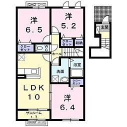 メゾン・ド・リシェスC[2階]の間取り