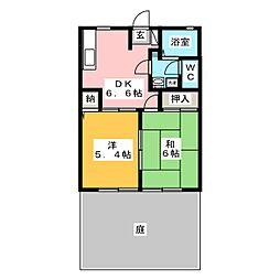 ディアス本野 B棟[1階]の間取り