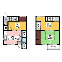 [テラスハウス] 愛知県一宮市住吉2丁目 の賃貸【愛知県 / 一宮市】の間取り