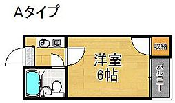 大阪府大阪市住之江区南加賀屋3丁目の賃貸マンションの間取り