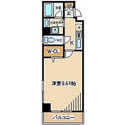 東京都府中市宮町1丁目の賃貸マンションの間取り