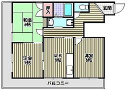 レジデンス光[3階]の間取り