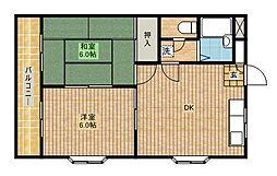 ハイツタナカII[301号室]の間取り