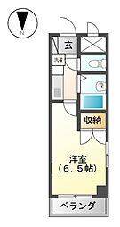ドミトリ−518[2階]の間取り